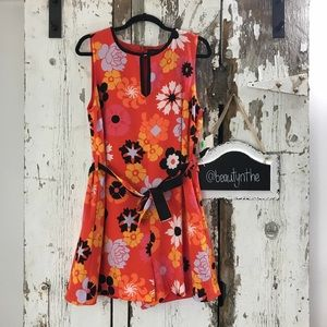 -PLUS- Victoria Beckham retro floral print romper